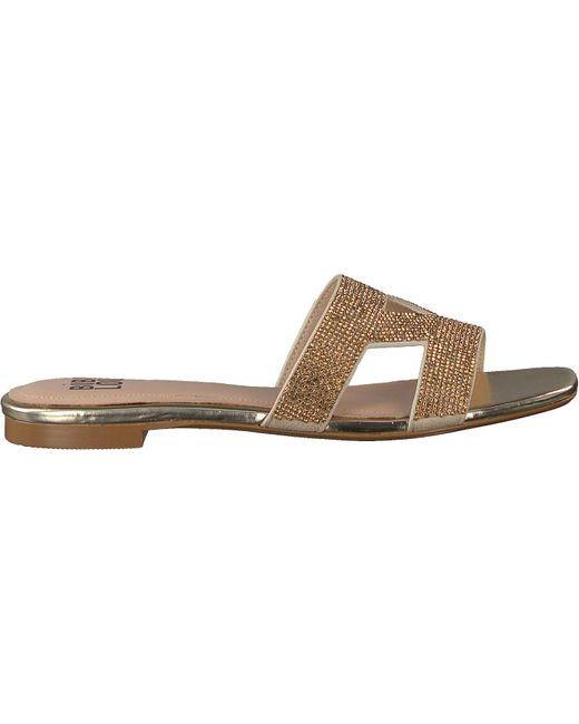 Bibi Lou Gouden Slippers 869z00hg in het Metallic