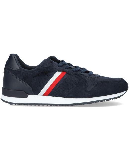 Tommy Hilfiger Blaue Sneaker Low Iconic Suede in Blue für Herren