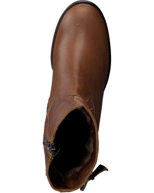 Omoda Brown Cognacfarbene Stiefeletten 8678