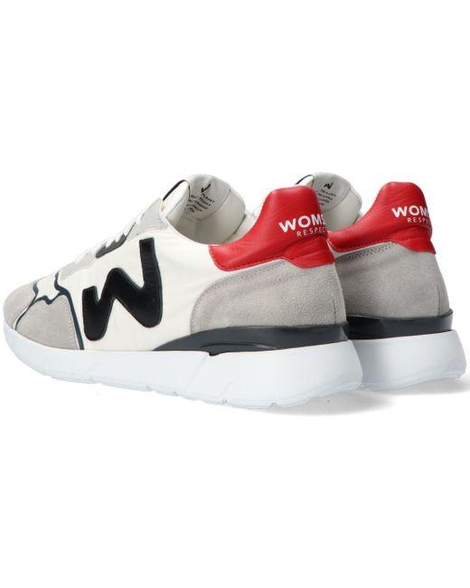 WOMSH Weiße Sneaker Low Runny Heren in White für Herren