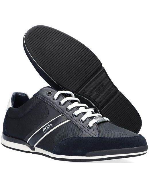 BOSS by Hugo Boss Blauwe Lage Sneakers Saturn Lowp Mx in het Blue voor heren