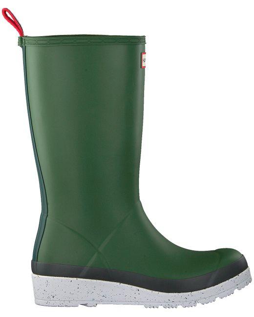 Hunter Groene Regenlaarzen Womens Play Tall Speckle Sole in het Green