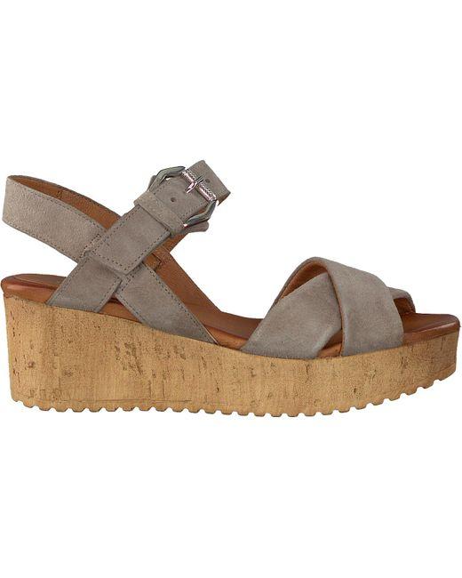 Omoda Gray Beige Sandalen 722017