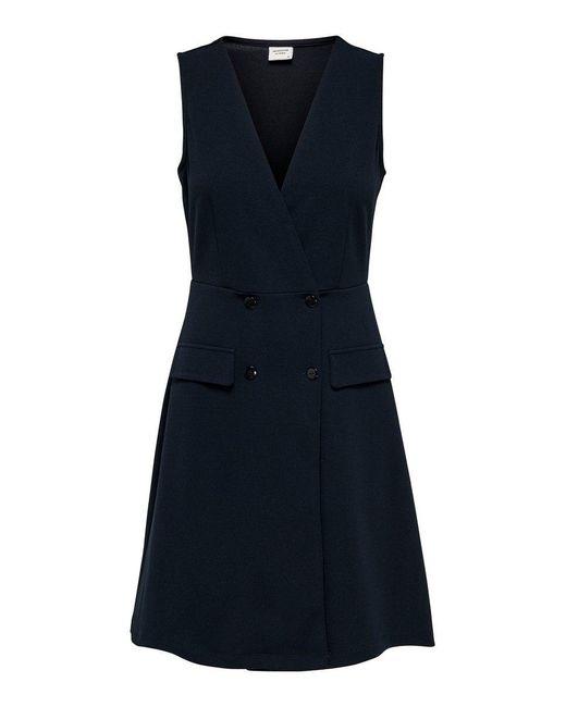 ONLY Blue V-ausschnitt Kleid Ohne Ärmel