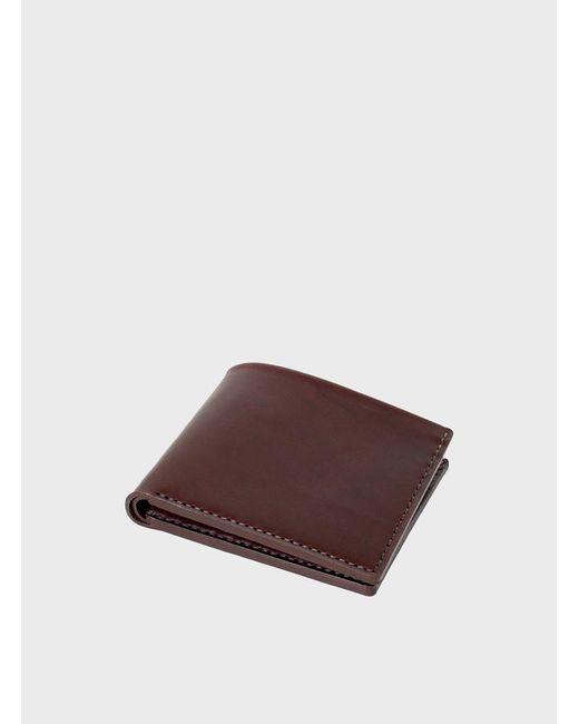 Makr | Brown Ox Blood Open Billfold Wallet for Men | Lyst