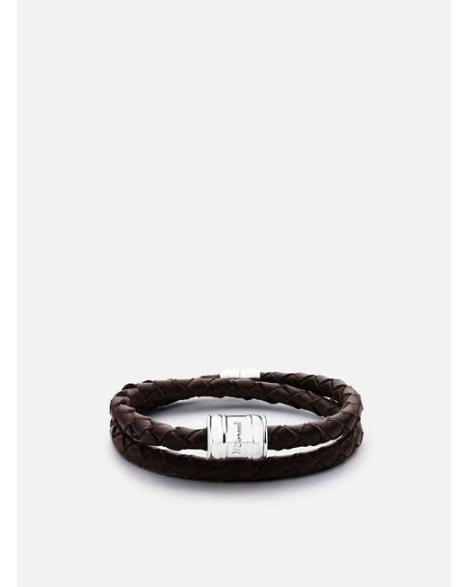 Miansai | Metallic Silver Rope Casing Bracelet - Brown for Men | Lyst