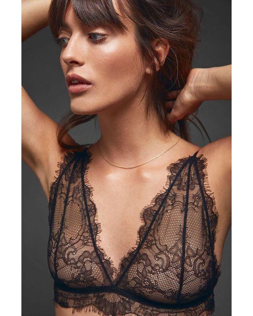 d3d29503f1 Anine Bing - Multicolor Delicate Lace Bra - Black - Lyst ...