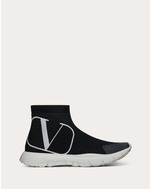 Valentino High Top Sneakers Black