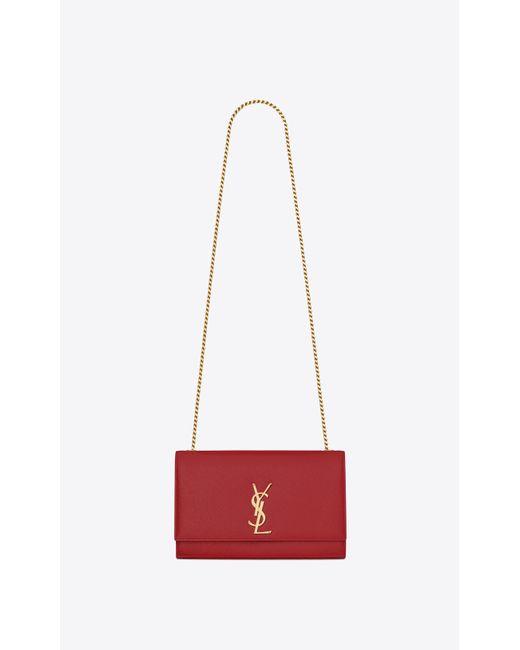 Saint Laurent - Classic Medium Kate Monogram Textured-Leather Satchel - Lyst  ... 14f1d85456b9b