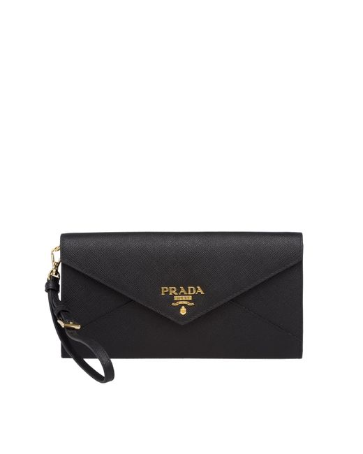 0e83a13fb2 ... new arrivals prada black saffiano leather mini bag lyst bac20 aec98