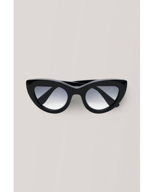 Ganni Black Triangle Frame Sunglasses