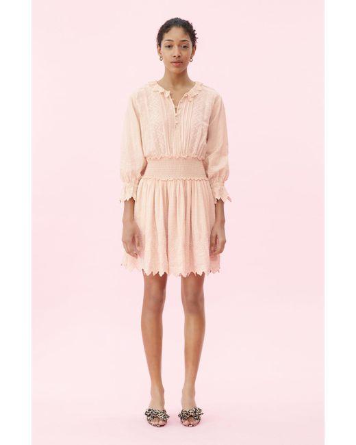 79631cb3fde75 Rebecca Taylor - Multicolor La Vie Embroidered Voile Dress - Lyst ...