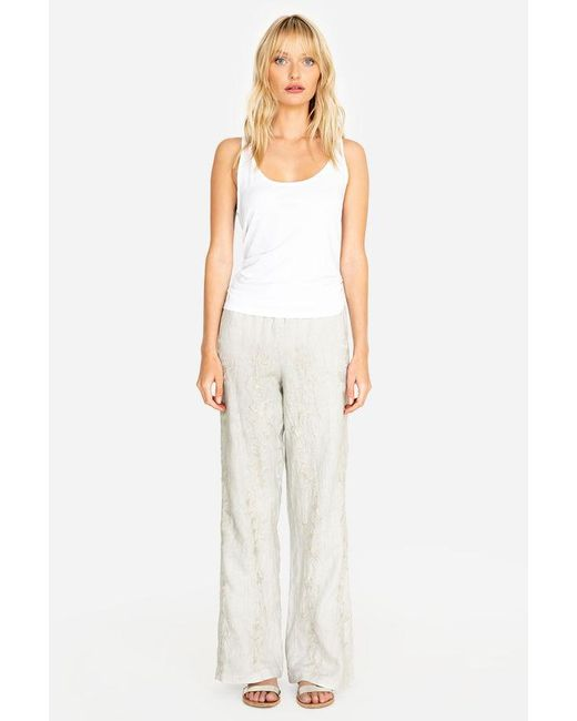 4ce946b759a ... Johnny Was - Black Renee Side Slit Palazzo Pant - Lyst ...