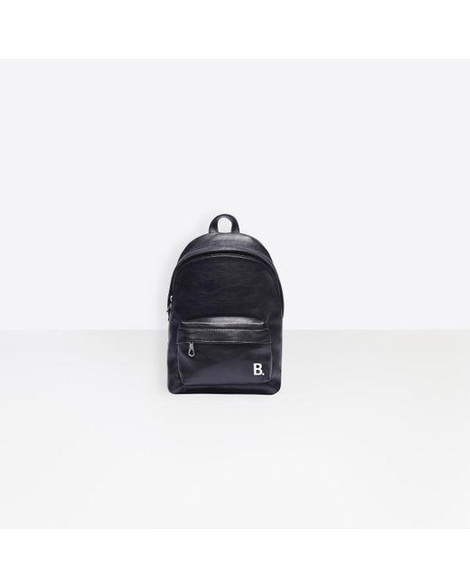 Balenciaga Black Soft Xxs Backpack