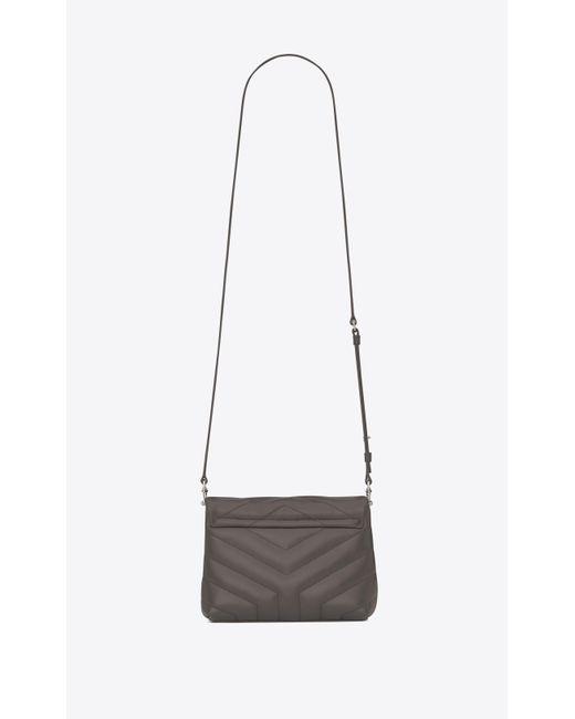 ... Saint Laurent - Gray Grey Toy Loulou Bag - Lyst ... 8f78aaead1b76