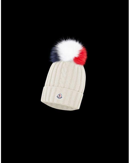 95ce1955597 Moncler - White Hat - Lyst ...