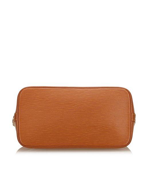 9ada9ae6a38d ... Louis Vuitton - Brown Epi Alma Pm - Lyst ...
