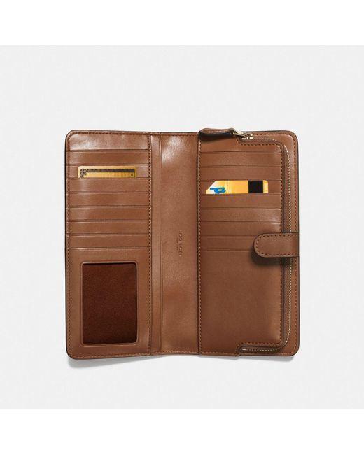 89ee6487f144 ... COACH - Brown Skinny Wallet - Lyst