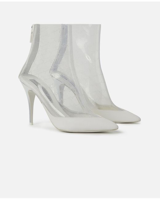 682aecc3bbc ... Stella McCartney - White Transparent Ankle Boots - Lyst ...