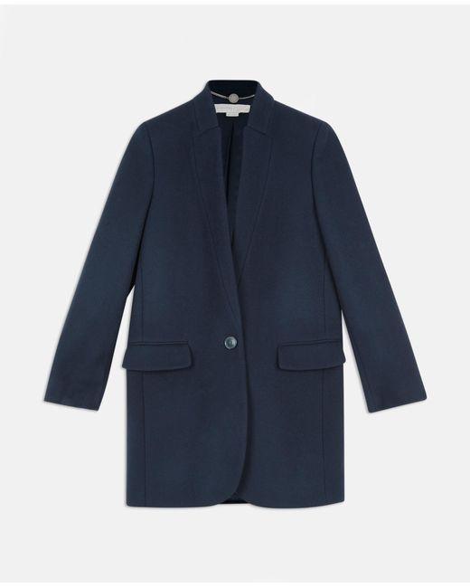 Stella McCartney - Blue Bryce Coat - Lyst ... 25b20a56a