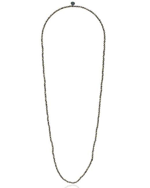 Johnny Was Metallic Pyrite Necklace
