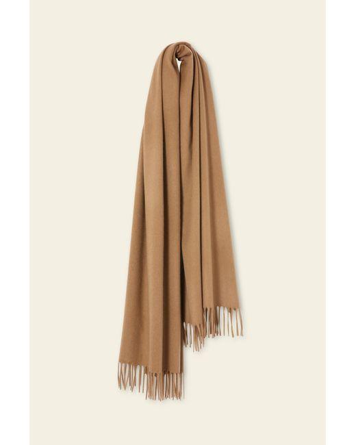 Mansur Gavriel Natural Cashmere Winter Scarf - Camel