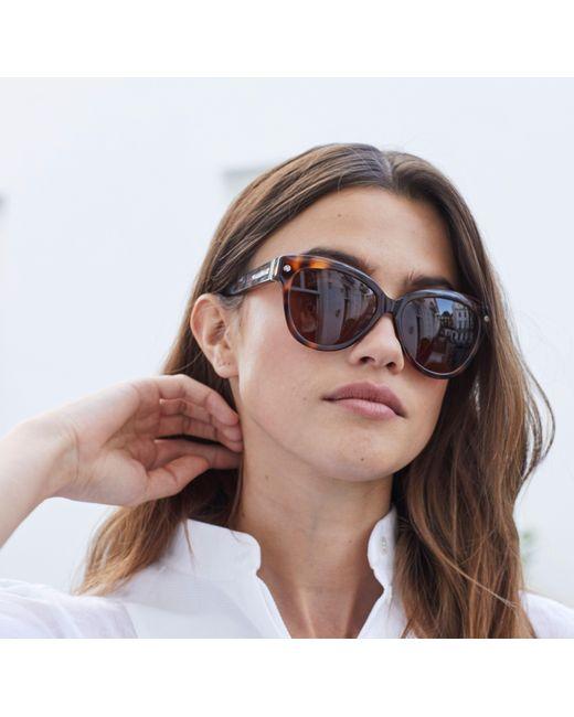 020c1c018e748 ... Amanda Wakeley - Brown The Chelsea Tortoiseshell Sunglasses - Lyst ...