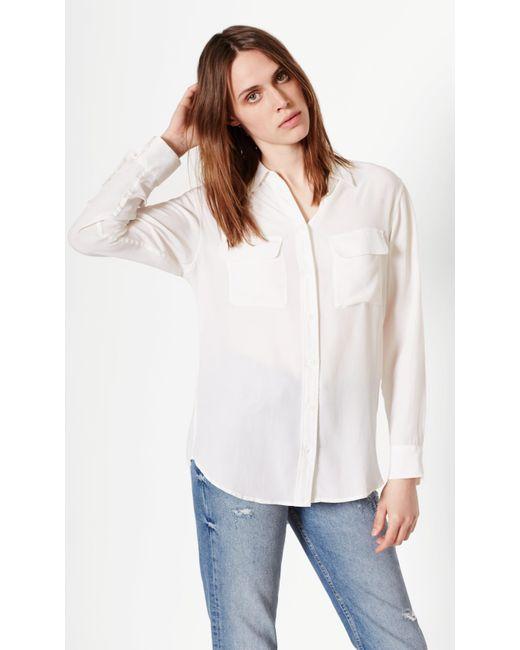 f27ffc6fbc5c62 Equipment - White Signature Silk Shirt - Lyst ...