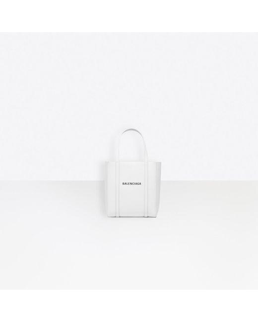 Balenciaga White Everyday Tote Xxs