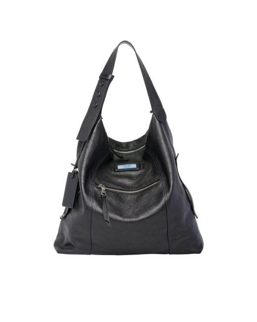 68ecc6c401e9 Prada - Black Etiquette Leather Bag - Lyst ...