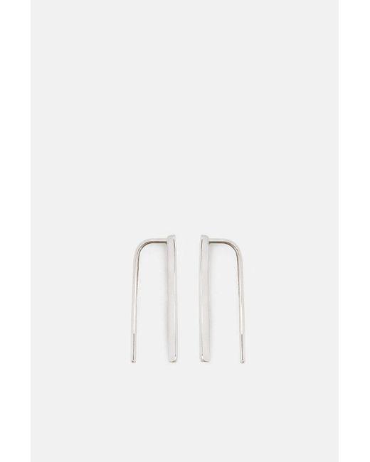 Gabriela Artigas - Multicolor Thin Staple Earrings (set Of 2) - 14k White Gold - Lyst