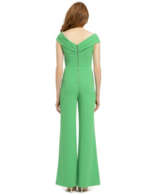 0b48c848686 ... Alice + Olivia - Green Kaye Wrap Shoulder Sleveless Jumpsuit - Lyst ...
