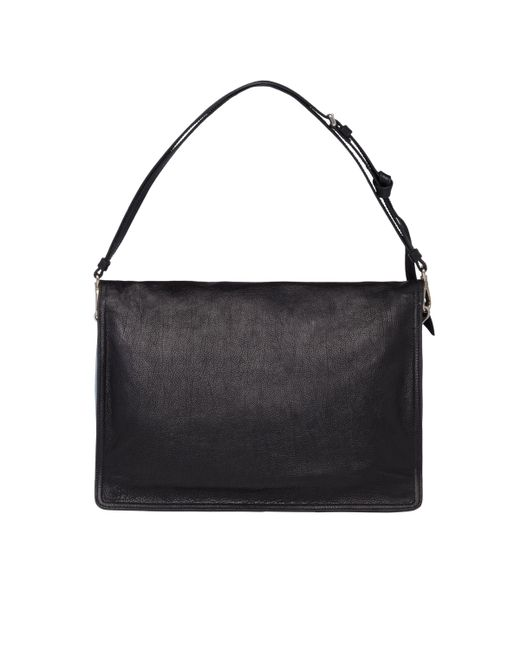 04ebe8301c14 ... Prada - Black Etiquette Leather Shoulder Bag - Lyst ...