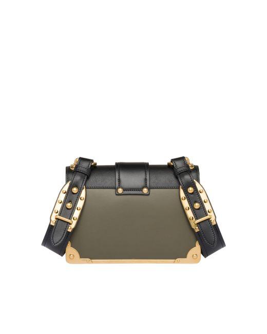 945474fd3fbf ... Prada - Black Cahier Leather Shoulder Bag - Lyst ...