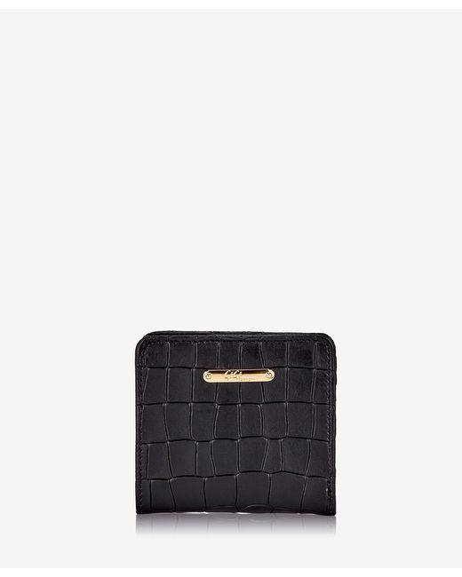 Gigi New York Black Mini Foldover Wallet