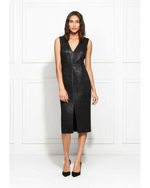 fb39d798ed1 Rachel Zoe - Black Joy Metallic Croc Dress - Lyst ...
