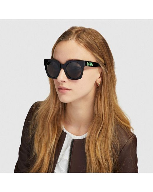4b243914ef ... COACH - Multicolor Horse And Carriage Hologram Sunglasses - Lyst ...
