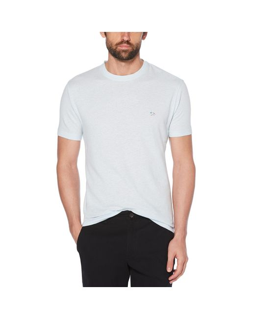 Original Penguin - White Linen Cotton Tee for Men - Lyst