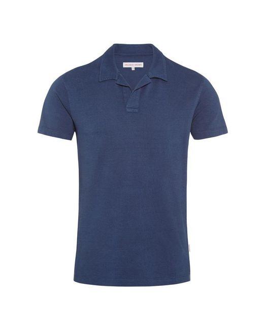 Orlebar Brown - Blue Felix Slub Resort-polo Navy for Men - Lyst
