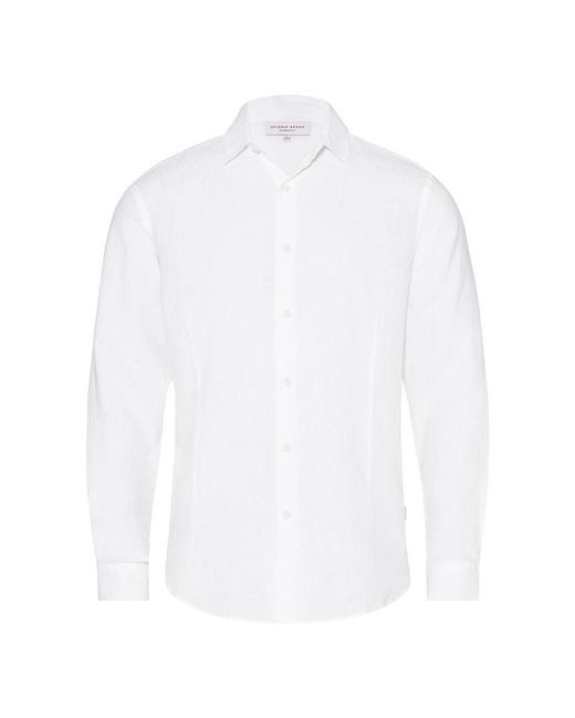 Orlebar Brown - Meden White Classic-fit Shirt for Men - Lyst