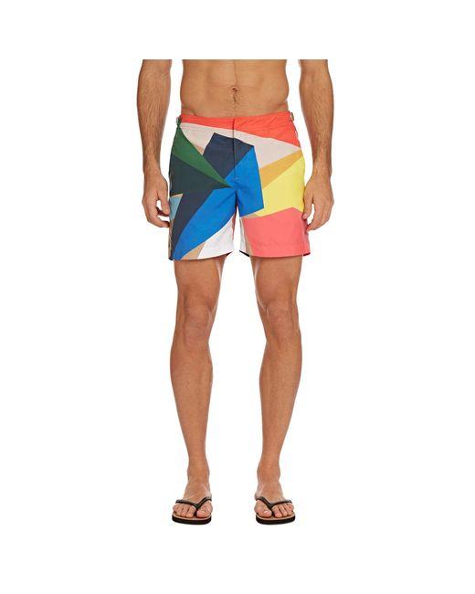 830c9f29cc6 ... Orlebar Brown - Blue Bulldog Rob Wyn Yates Prism Mid-length Swim Shorts  for Men ...