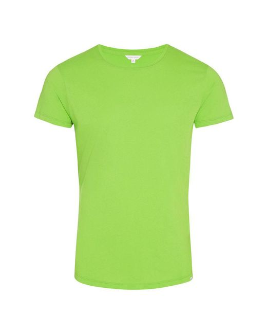Orlebar Brown - Green Ob-t T-shirt Mit Rundhalsausschnitt Und Körperbetonter Passform In Fern for Men - Lyst