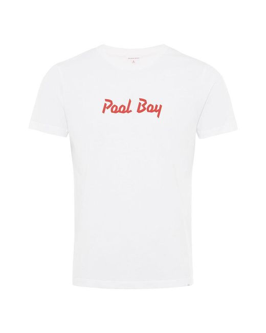 Orlebar Brown - White Slogan Tee Pool Boy - T-shirt Mit Klassischer Passform for Men - Lyst