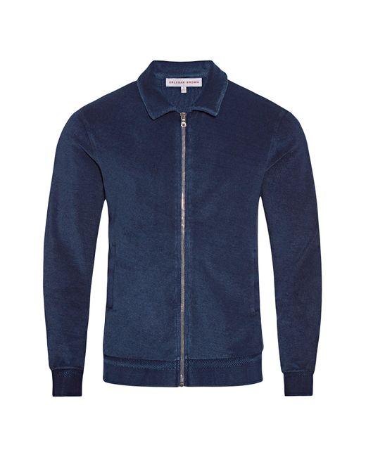 Orlebar Brown Blue Washed Indigo Classic Fit Zip-thru Sweatshirt for men