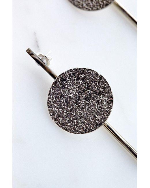Quarry | Francesca Long Earrings In White Bronze | Lyst
