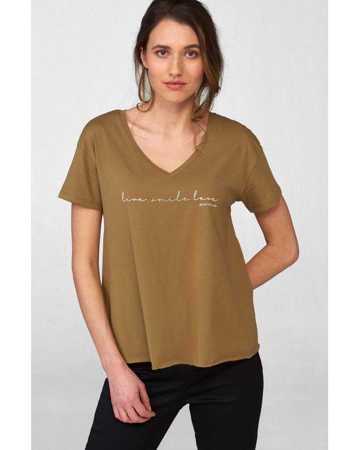 ORSAY Green T-Shirt mit Slogan