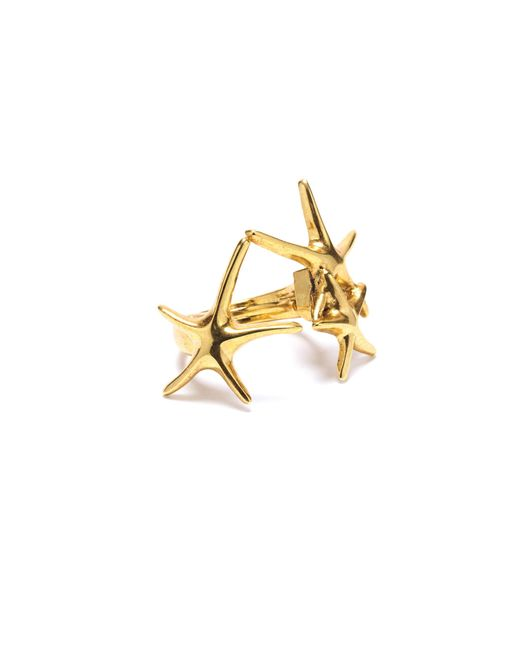 Oscar de la Renta - Metallic Star Fish Ring - Lyst