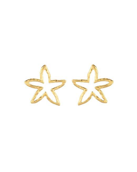 Oscar de la Renta - Metallic Star Fish Outline Earrings - Lyst