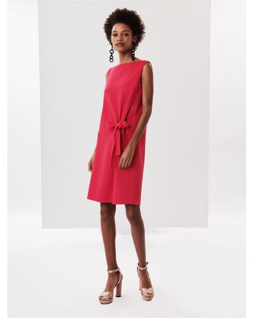 Oscar de la Renta - Red Stretch-wool Crepe Dress - Lyst