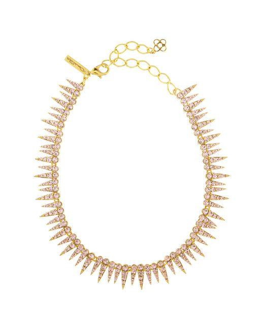 Oscar de la Renta - Metallic Crystal Sea Urchin Necklace - Lyst